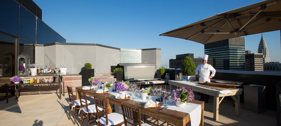 Lotte New York Palace Champagne Suite BBQ