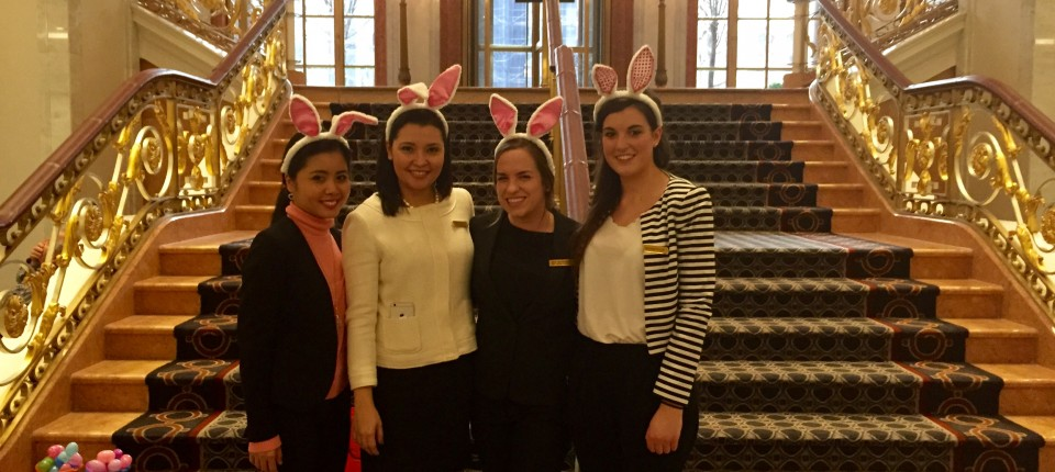 Guest Service team Easter at The Palace