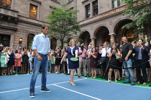 Rafael Nadal Hosts Wii Tennis Tournament At Lotte New York Palace