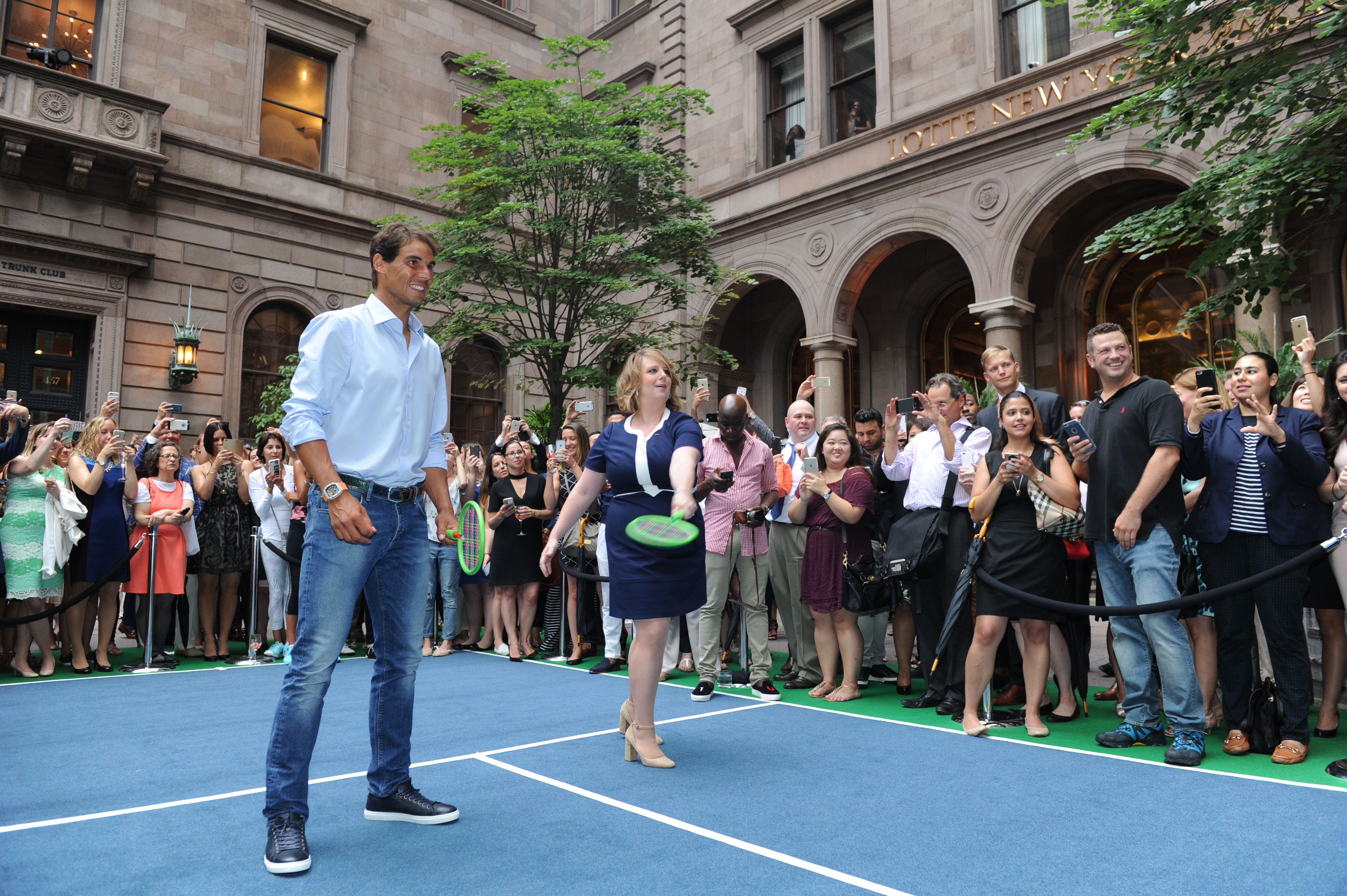 World Class Tennis Stars At Lotte New York Palace